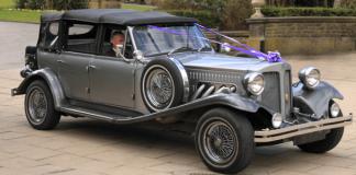 Samochód w stylu retro na ślub i wesele