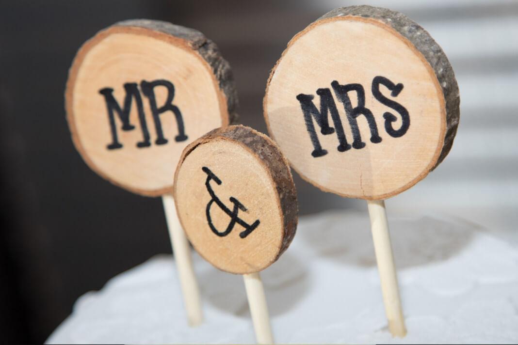 Toppery na tort ślubny - ozdobne litery i cyfry